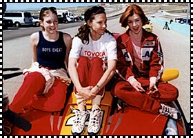 Alyson Hannigan in Toyota Car Race