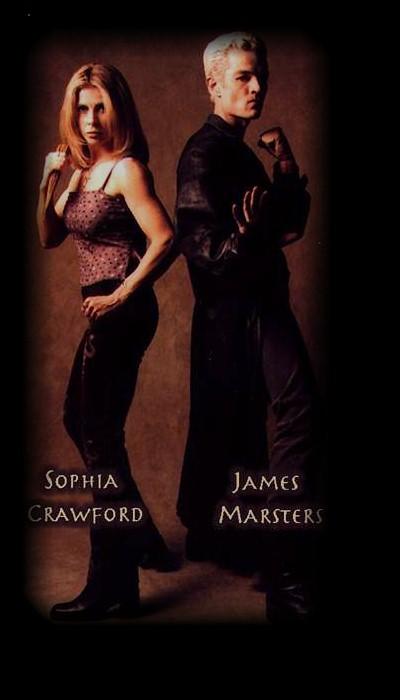 Sophia Crawford and James Marsters