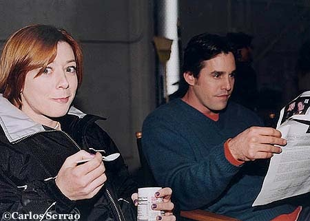 Alyson Hannigan and Nicholas Brendon
